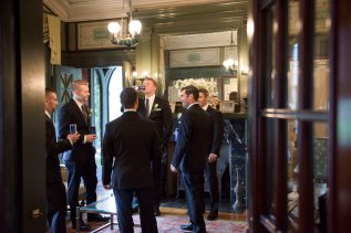 groomsmen candid photography at Mansion at Linden Hall