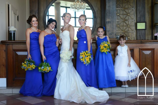 Bridesmaids dress royal