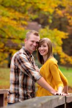 Fall engagement portraits Bradys Run Park
