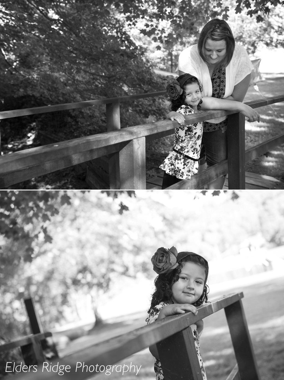4 year old girl on bridge