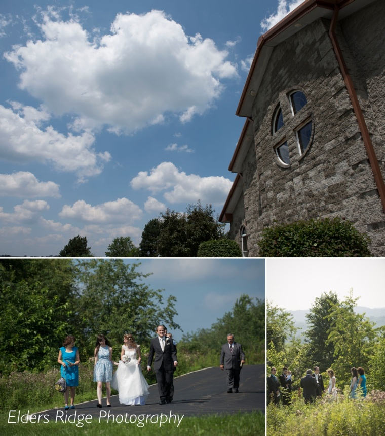 Beautiful day for an outdoor wedding in Westmoreland County