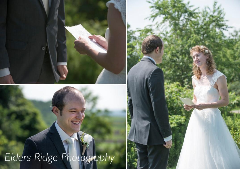 Karissa reads her vows to Brandon