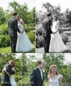 The first kiss followed by a hug