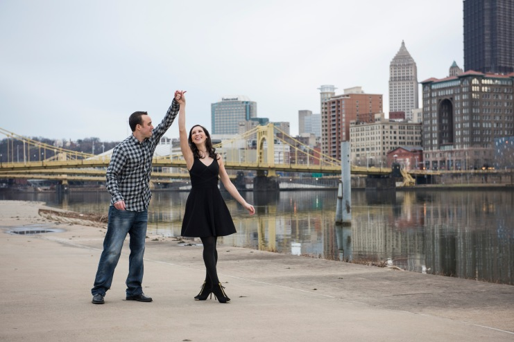 Engagement portraits North Shore Pittsburgh, PA