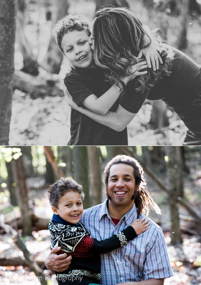 individual portraits with son and parents