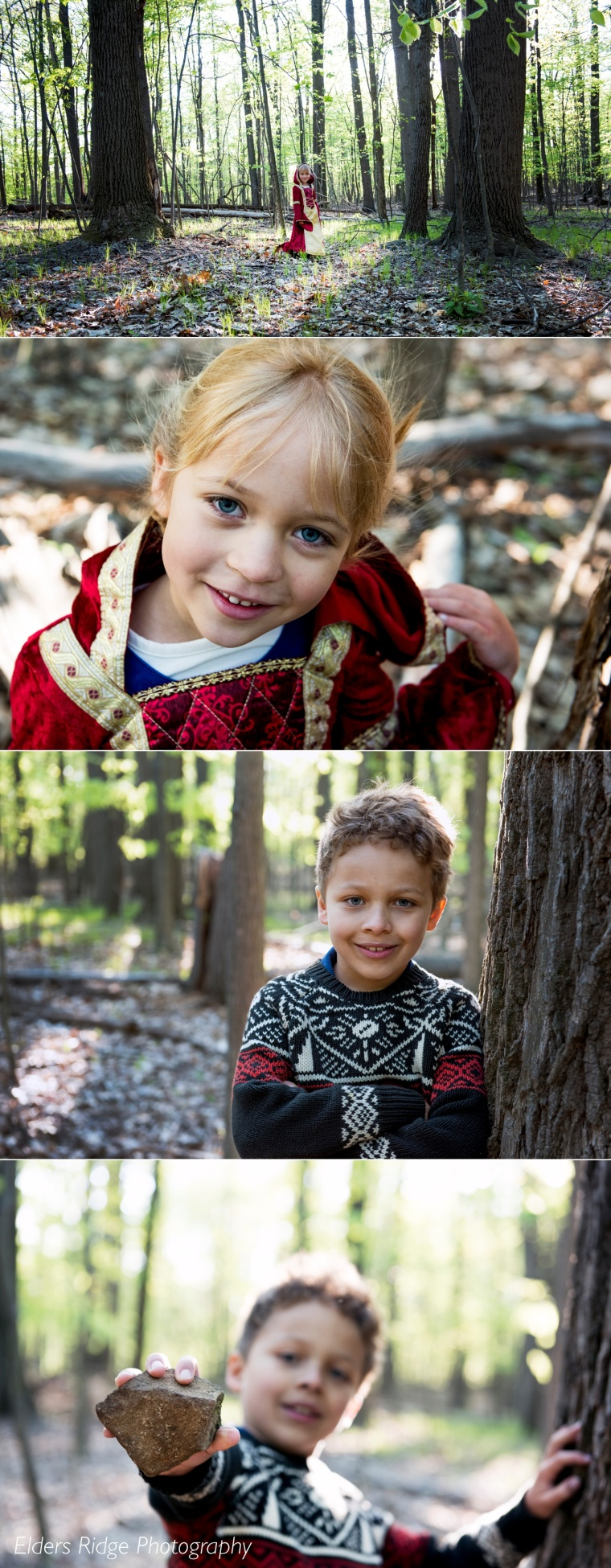 ZuZu and Griffin individual portraits