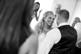 candid dancing pictures from reception at Rustic Lodge