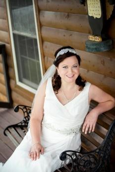 bridal portraits at camp cabin