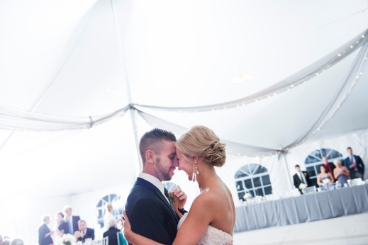 bride and groom first dance at Linden Hall wedding
