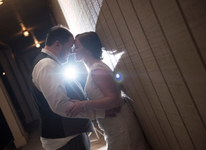bride and groom portraits at wedding at Center Stage Monaca PA