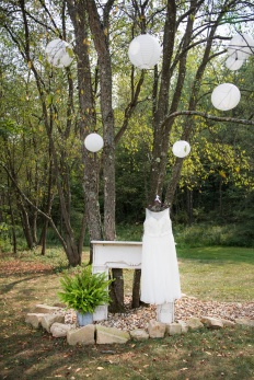 bridal gown details at rustic wedding site in Butler County PA