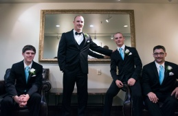 groomsmen portraits at Chestnut Ridge Resort