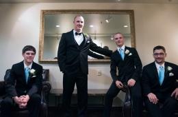 groomsmen portraits at Chestnut Ridge Resort