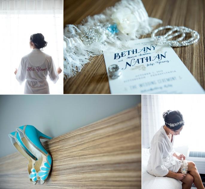 something blue bride shoes wedding details