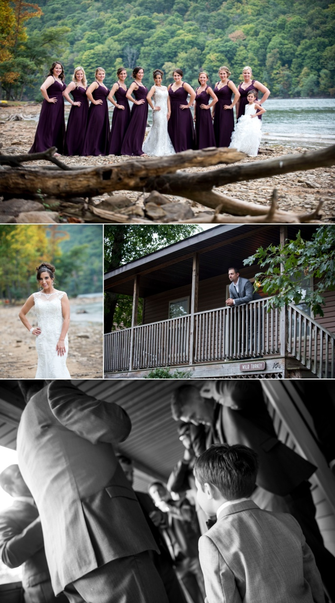 bridal party pictures at raystown lake