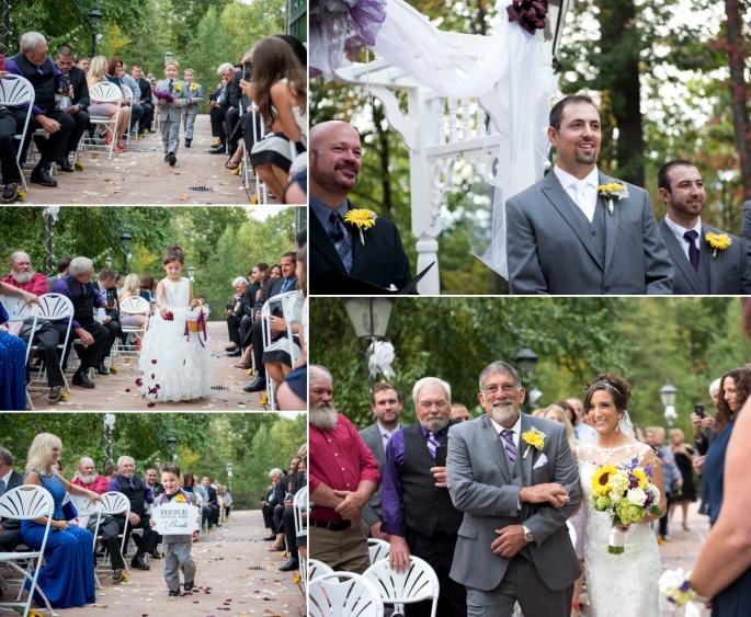 wedding ceremony at Lake Raystown Resort Lodge