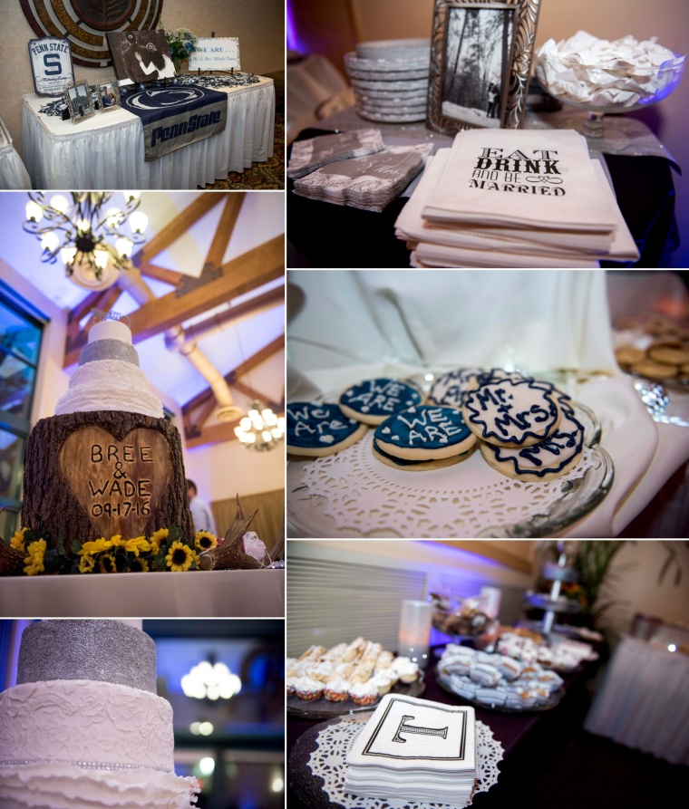 wedding reception details at Lake Raystown Resort Conference Center