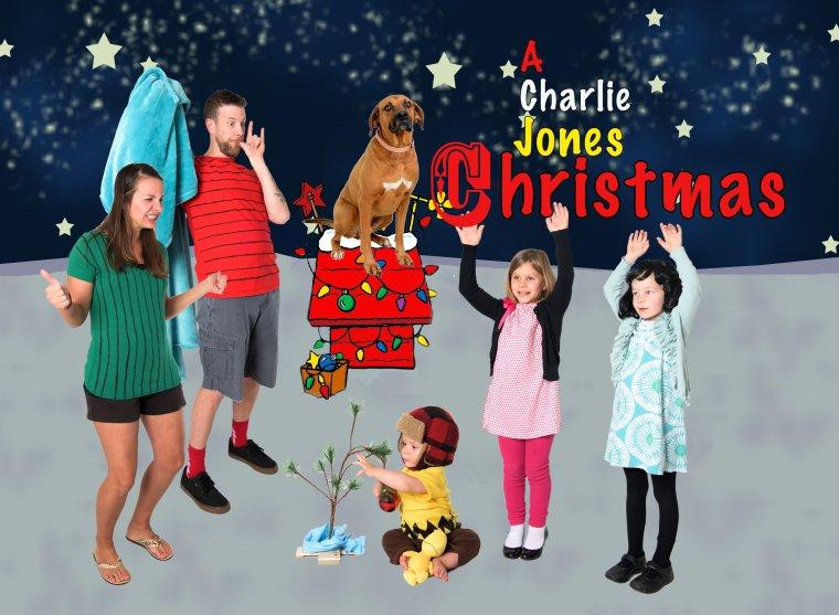 A Charlie Brown Christmas family christmas card