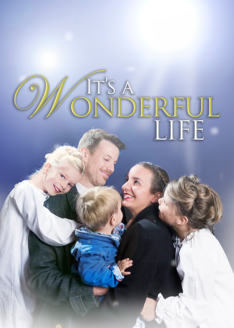 It\'s a Wonderful Life Themed Christmas Card – Elders Ridge Photography