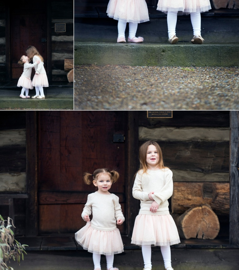 family portraits at cabin in beaver pa
