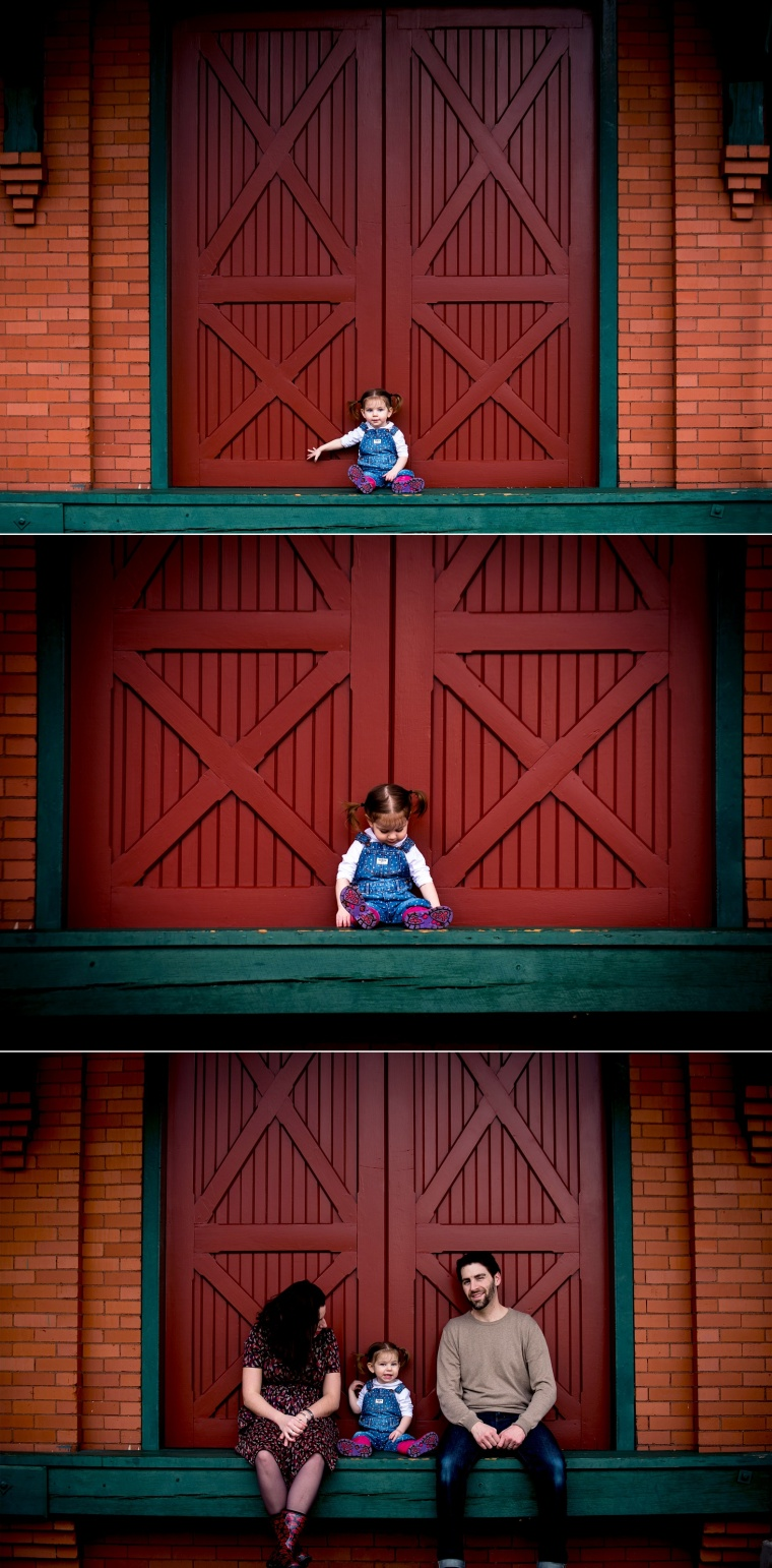 two year old girl portraits at beaver train station
