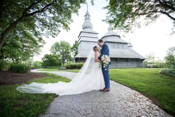 Wedding portraits at gothic church